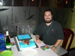 That's me in the corner.  That's... ahh, forget it.  Me with the cake.  :)