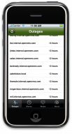 OpenNMS iPhone App: Outage List