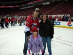Stephanie and Cynthia with Brandon Sutter