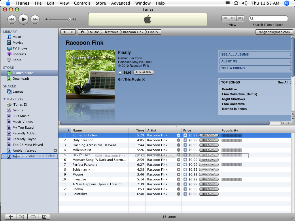 iTunes 8.2.1: drag song to playlist