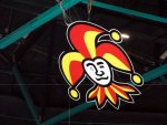 Jokerit logo hanging from the ceiling