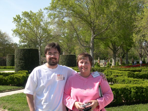 Williamsburg - Me and Mom in the Gardens Behind the Governor's Palace